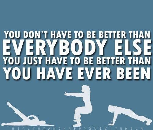 皆よりも上手である必要はありません。今までの自分よりも良くなっているかどうか、が大事です