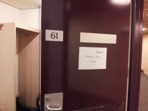 何度行っても迷子になる舞台裏で私の部屋発見!