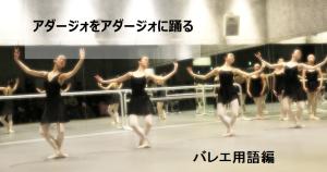 アダージォをアダージォに踊る バレエ用語