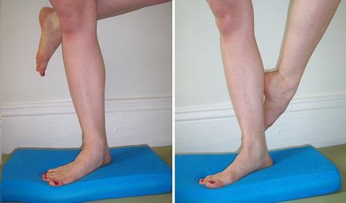 片足で足首のアライメントターンアウト