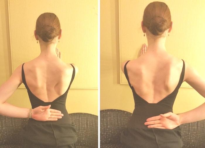 片手になったとたん軸の肩甲骨が飛びだしているのが見えます(外した手の方はでっぱります・・・)